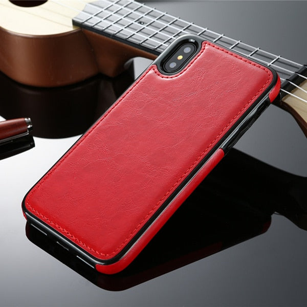 iPhone Xr Vintage Leather Case