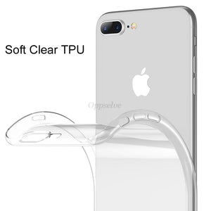 Ultra Thin Soft Silicon Transparent Case For iPhone 7 | 8 | Plus | X | XS Max | Xr