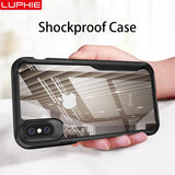 LUPHIE Shockproof Armor Transparent Silicon Case / Cover For iPhone