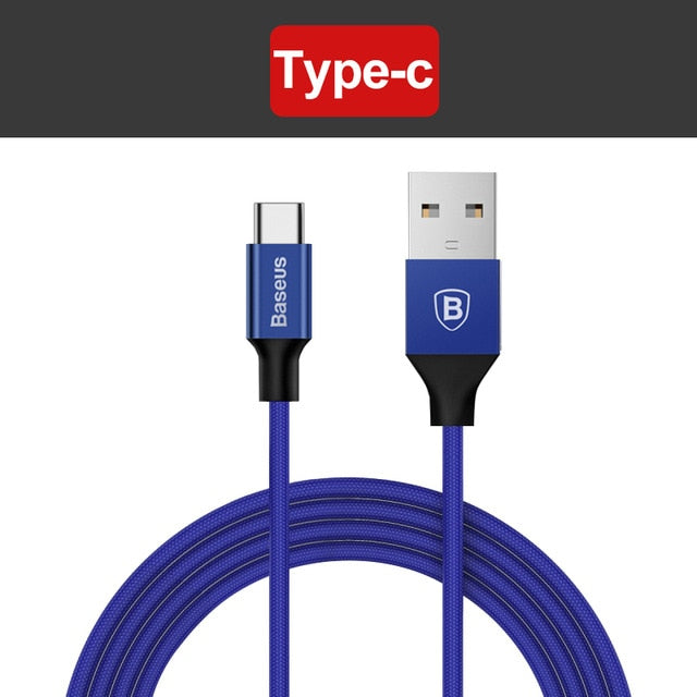 Baseus 3 in 1 Micro USB Cable For iPhone | Type C | Android