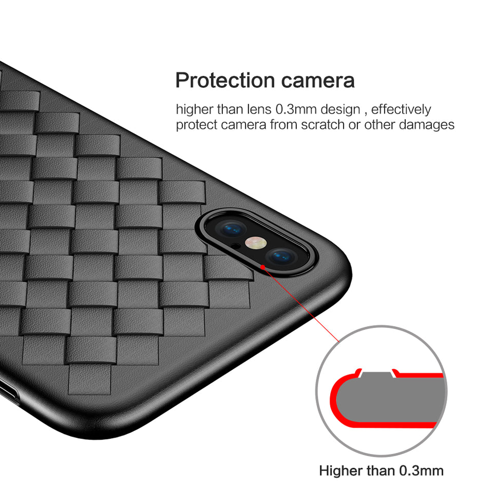 FLOVEME Super Soft Phone Case | Luxury Grid Cover | Silicone Accessory