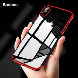 Baseus Luxury Plating Case For iPhone with Soft TPU Silicone Back Cover