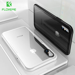 Luxury Tempered Glass iPhone Case with Transparent Protective Glass Cover