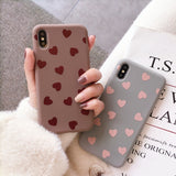 Love Heart Matte Soft Case for iPhone 7 | 8 | Plus | X | XS Max | XR