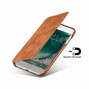 Luxury Leather Magnetic Flip Case for Apple iPhone Cover