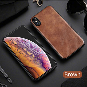 Ultra Light Luxury Leather Case with Soft Silicon Edge Case for iPhone X | XS Max | Xr