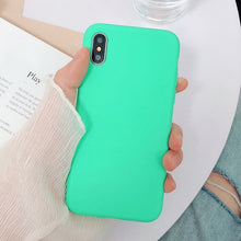 Load image into Gallery viewer, Solid Candy Color Soft Silicone Cases For iPhone 7 | 8 | Plus | X | XS Max | Xr