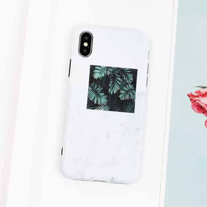 Flowers Art Leaf Soft Case For iPhone 7 | 8 | Plus | X | XS Max | Xr