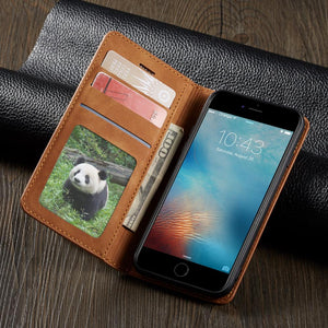 Magnetic Leather Flip Wallet Case iPhone 7 | 8 Plus | X | XS Max | Xr