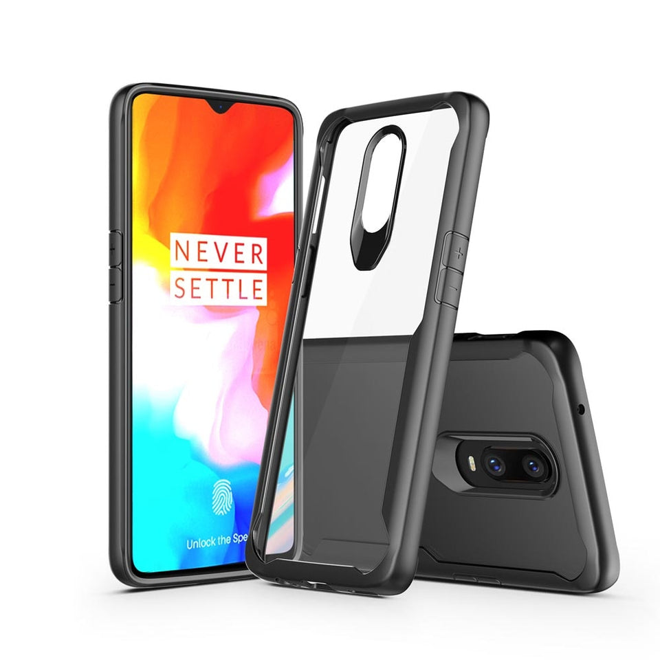 Clear Transparent Silicone Back Case Cover for ONEPLUS 7 Pro, 7, 6T,6
