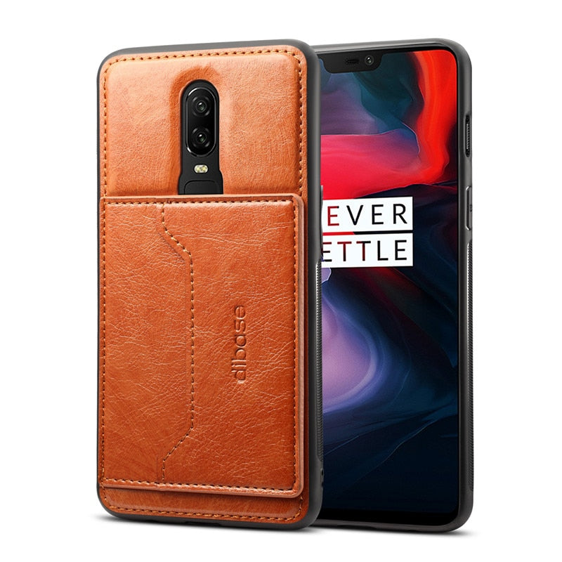 Oneplus 6 | 6T | 7 Horse Retro Magnetic Leather Wallet Holder Case | Cover