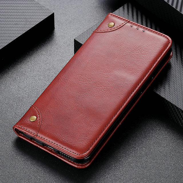 Magnetic Shockproof Luxury Leather Flip Case Cover for Oneplus 7 Pro