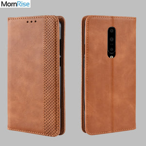Vintage Slim Magnetic Wallet Leather Card Slot Flip Case for Oneplus 7 | 7 Pro