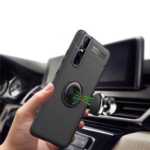 360 Degree Ring Finger Holder Car Magnet Case for Vivo V15 Pro