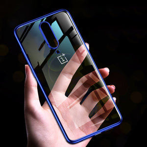 Electro Plating Silicone Shockproof Bumper Coloured Case For Oneplus 7 Pro, 7, 6, 6T
