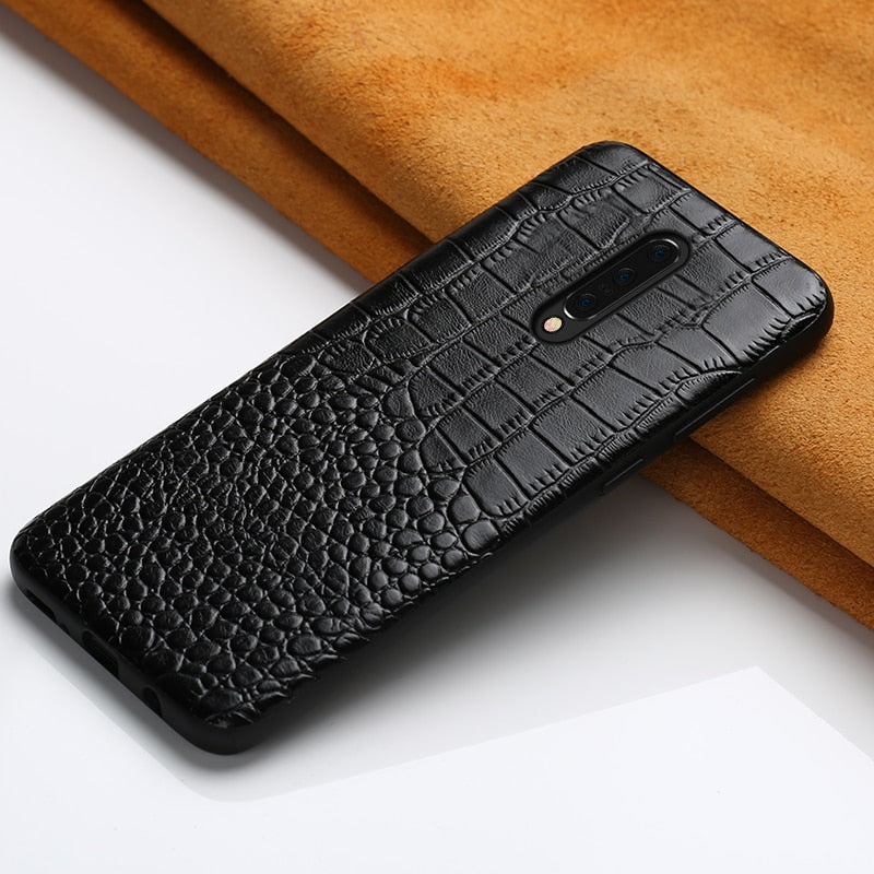 Oneplus 7 Pro, 7, 6, 6T Genuine Crocodile Garin Armor Leather Case & Back Cover