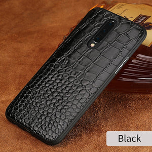 Genuine Leather Crocodile Grain Armour Case Cover for Oneplus 7 | 7 Pro | 6 & 6T