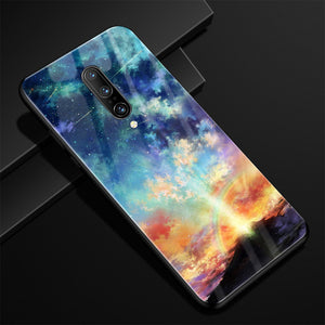 Oneplus 7 Pro, 7, 6, 6T Luxury Pattern Tempered Glass Armor Case & Back Covers