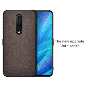 Cloth Fabric Silicone Soft Edge Protection Case for ONEPLUS 7 Pro, 7, 6T, 6
