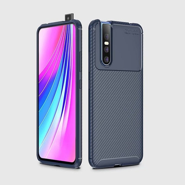 Professional Carbon Fibre Shockproof Premium Case Cover for Vivo V15 Pro