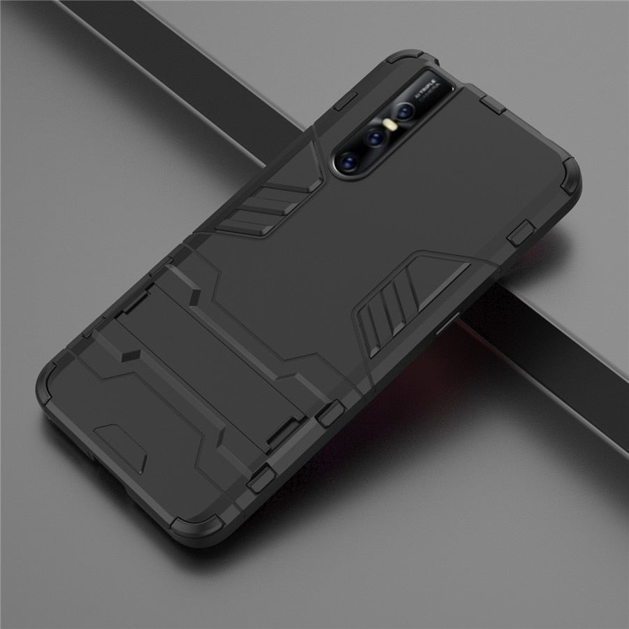 newest 8aac8 02b04 Armour Smart Hybrid Shockproof Silicone Case Cover for Vivo V15 & V15 Pro