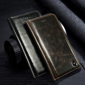 Genuine Leather Flip Luxury Creative Stents Case Cover for Vivo V15 Pro
