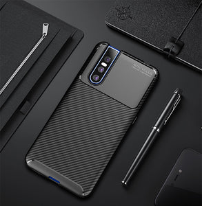 Luxury Carbon Fibre Drop-Proof Soft Armor Case for Vivo V15 | V15 Pro