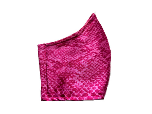 Pink Snakeskin Mask- Child