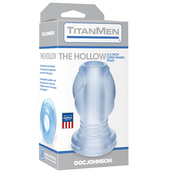 Open Hollow Tunnel Plug-Clear