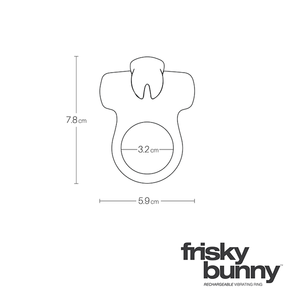 Frisky Bunny Rechargeable Ring-black