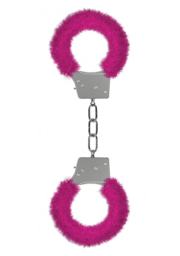 Ouch Beginners Furry Cuffs-Pink