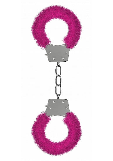Ouch Pleasure Cuffs-Pink Furry