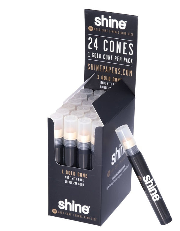Paper: Shine King Sized 24k Gold Cone - Single