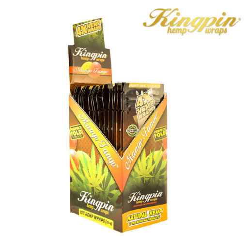 Kingpin Hemp Wrap Mango-4pk