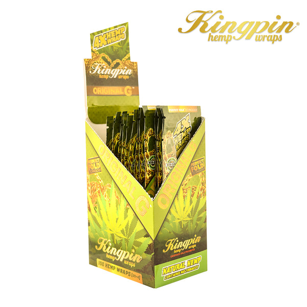 Kingpin Hemp Wrap Natural-4pk