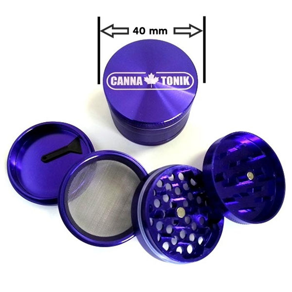 Grinder: Cannatonik 1.5 inch Aluminum , 4pc - Purple