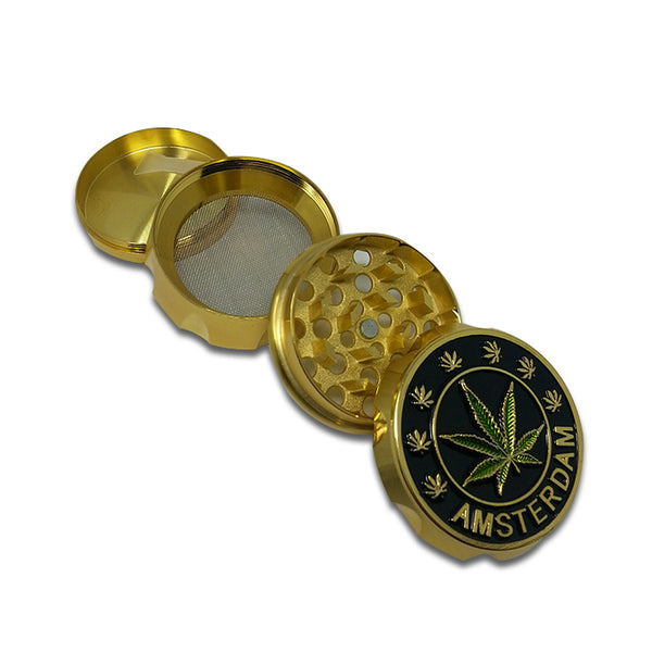Grinder: Amsterdam 2 inch Aluminum with Grip, 4pc  - Gold