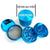 "Grinder: Cannatonik 2.25"" Aluminium 5pc-Light Blue"