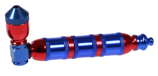 Pipe: 3 chamber bi-colour metal - Assorted Colours