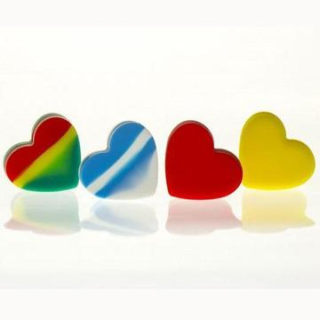 18ml Silicone Heart-Blue/White