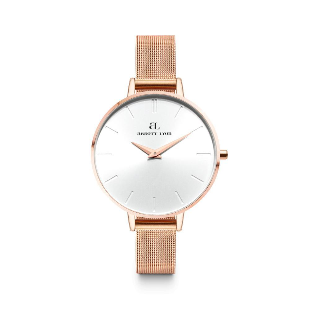 Montre Minimale 40 (Blanc/Rose Gold)