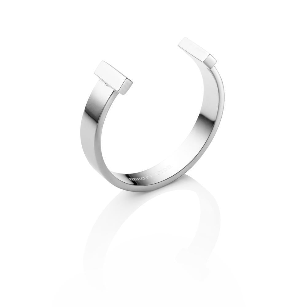 Bangle Barre T (Argent)