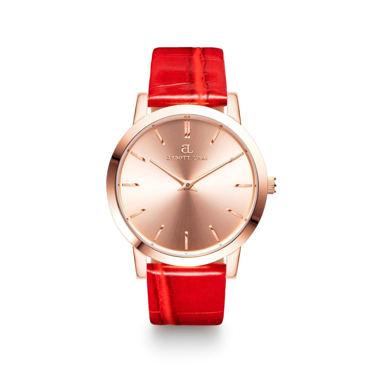 Montre Luxe 40 Croco (Corail/Rose Gold)