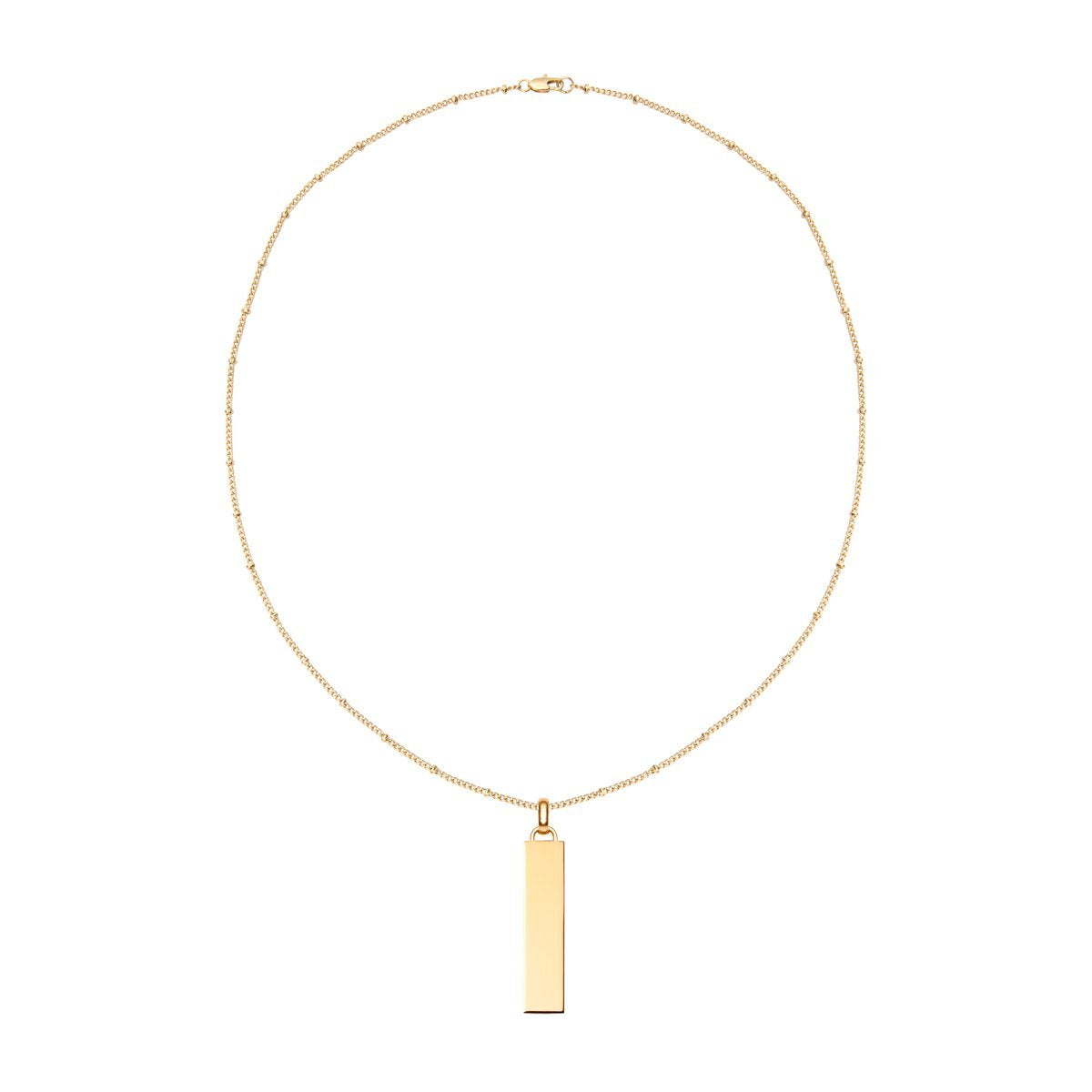 Collier Lineare Charm Large (Or Jaune)