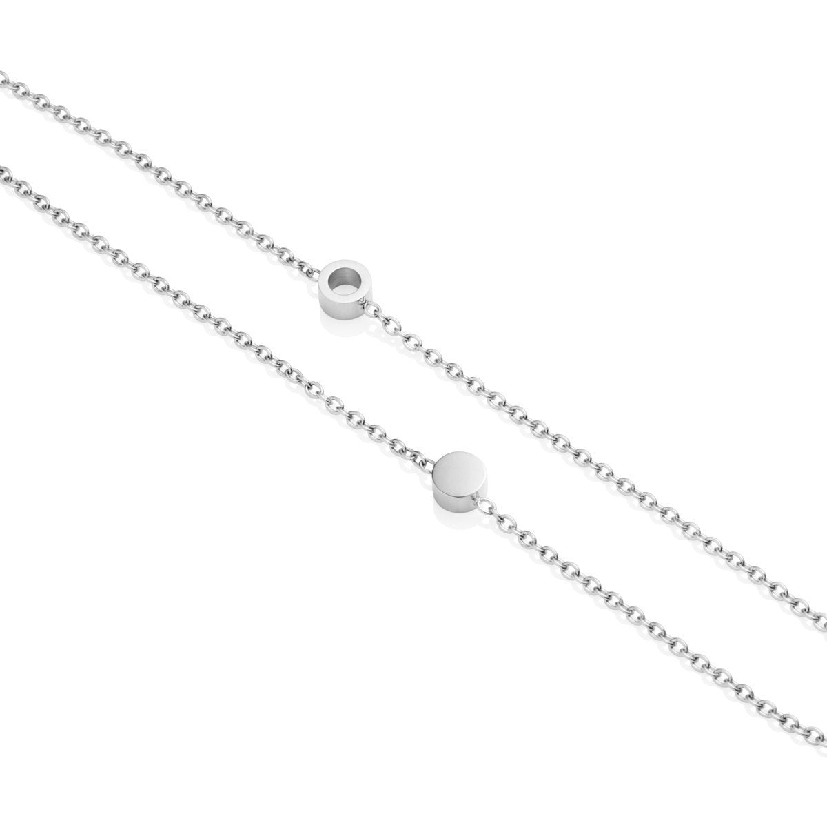 Bracelet Little Luxe Double Disc (Argent)