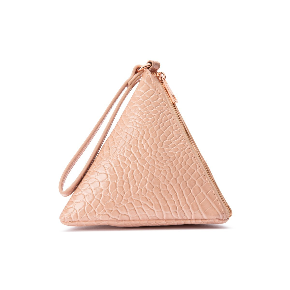 Pochette Pyramide Lilly (Pêche Blanche/Rose Gold)