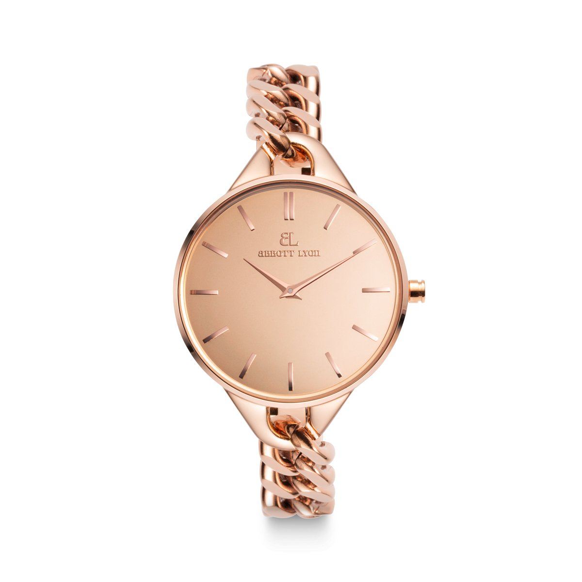 Montre Mirror Bracelet Maille 32 (Rose Gold)