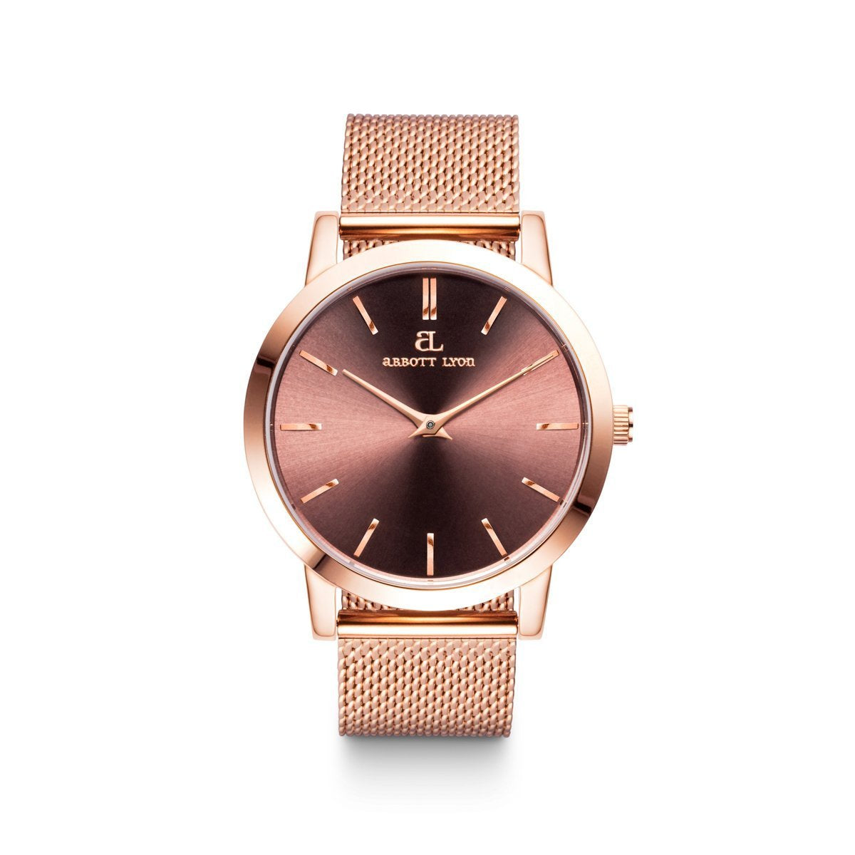 Montre Luxe 40 (Moka/Rose Gold)