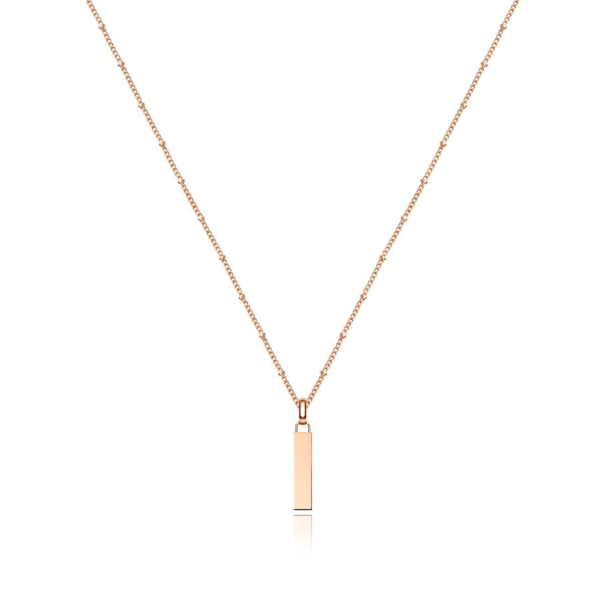 Collier Lineare Mini Charm (Rose Gold)