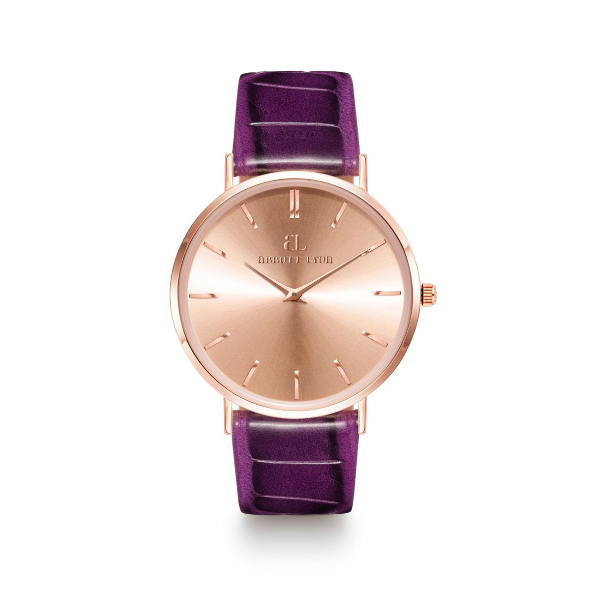 Montre Stellar 40 Croco (Ultra Violet/Rose Gold)
